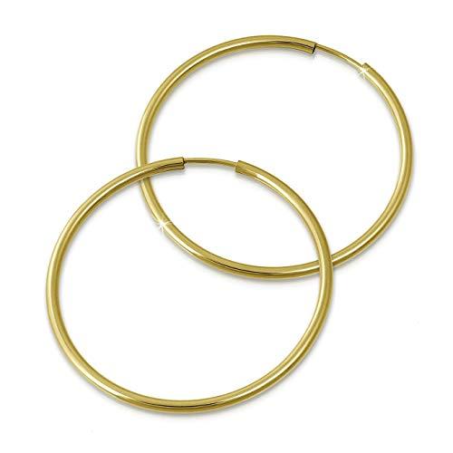 GoldDream 8 Karat Creolen 50mm 333 Gelbgold Ohrring Echt Gold Simply D2GDO0005Y ein schönes Geschenk zu Weihnachten, Geburtstag, Valentinstag für die Frau