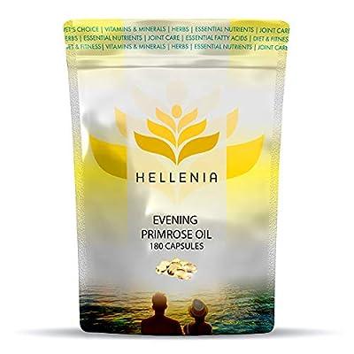 Hellenia Evening Primrose Oil 1000mg - 180 Capsules - Valuable Supplement for Women's Health