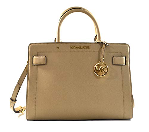 """Made of Saffiano leather Removable and adjustable shoulder strap, wear crossbody, over the shoulder or carry by hand Top zip closure Inside 1 zip pocket and 2 slip pockets 12""""L x 9""""H x 5""""D"""