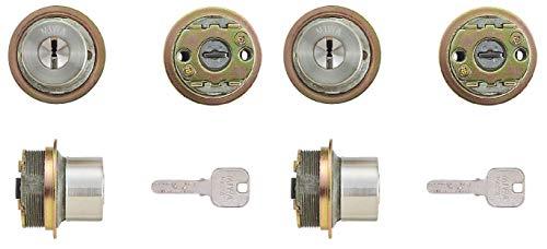 2個同一MIWA JNシリンダー LIXタイプ MCY-499 キー6本付属 鍵 交換 取替え MIWA KABA 美和ロック TE0 LIX