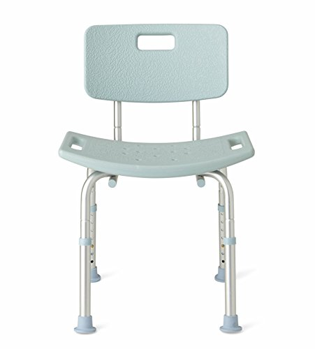 Medline Shower Chair Bath Bench with Back, Supports up to 300 lb,...