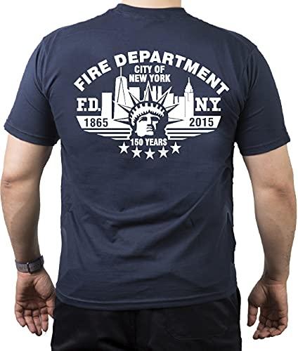 T-shirt bleu marine New York City Fire Dept.150 Years 1865-2015 - Bleu - X-Large