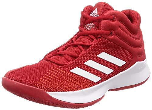adidas Pro Spark 2018, Zapatos de Baloncesto Unisex Niños, Rojo (Scarle/Ftwwht/Hirere Scarle/Ftwwht/Hirere), 30 EU