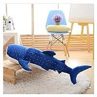 かわいいぬいぐるみ 50-150cmの の青いサメのぬいぐるみ大きな魚の布人形のクジラのぬいぐるみぬいぐるみ海の動物子供の誕生日プレゼント 贈り物 (Color : Blue, Height : 150cm)