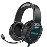VersionTECH. PS5 Gaming Headset PS4 Xbox One Headset PC Gaming Headphones Earphones with Microphone, Surround Stereo Sound, 7 Color Breathing Lights for PS5/4 Xbox 1 PC NS Mac