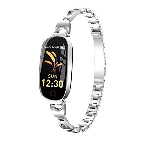 Meidexian888 L18 Color Screen Smart Watch, Female Physiological Cycle Reminder, Blood Pressure Heart Rate Monitor Fitness Tracker (Silver)