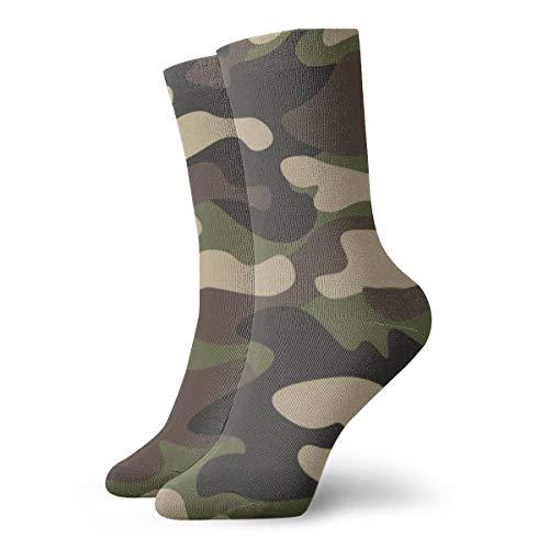Sportsocken mit Camouflage-Muster, abstraktes Camouflage-Muster, niedliche Sportsocken zum Wandern, Wandern, Outdoor-Freizeit-Socken, Wicking Cushion Crew-Socken für alle Jahreszeiten