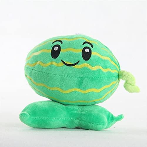 Vattenmelon plysch leksak växter vs zombies anime figur vinter melon docka, pp bomull fylld kudde husdjur för soffan dekor, bästa födelsedagspresent, 20cm (Color : Green)