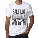 Photo de Homme T Shirt Graphique Imprimé Vintage Tee Saltillo Wait for Me Blanc