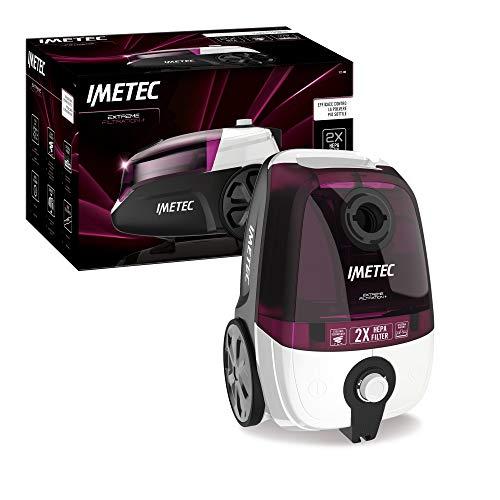 Imetec Extreme Filtration + 8175, Aspirapolvere Senza Sacco, Compatto, Doppio Filtro Hepa Ipoallergenico, Spazzola per Parquet, Tecnologia Ciclonica, Potenza Regolabile