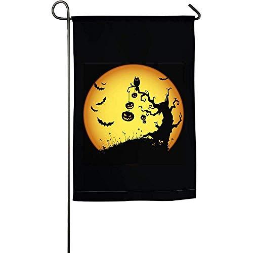 Not Applicable Flag Banner,Halloween-Hintergrund-Vertikale Polyester-Garten-Flaggen Für Willkommene Dekoration 45.7X32CM