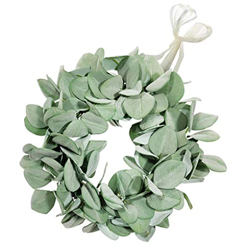 FEIFUSHIDIAN Lifelike Artificial Leaves Garland Lamb Ear Wedding Artificial Leaves Simulation Flower Garland Cloth Fake Wedding Foliage, Small Strong (Color : L)