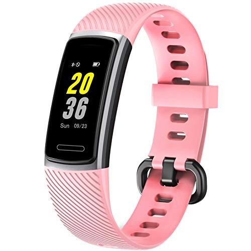Letsfit Fitness Tracker, Schrittzähler Uhr, Wasserdicht IP68 Aktivitätstracker mit Pulsmesser, Fitness Armband pulsuhr Smartwatch für Kinder Frauen Männer iOS Android Kompatibel