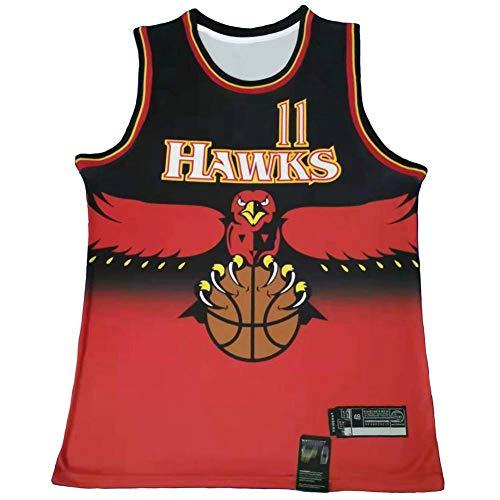YDYL-LI Jersey De Baloncesto De Los Hombres, NBA Atlanta Hawks-Trae Young # 11, Camisa De Baloncesto Sin Mangas Jersey De Hombre Camisa De Moda Transpirable,Rojo,L(175~180CM)