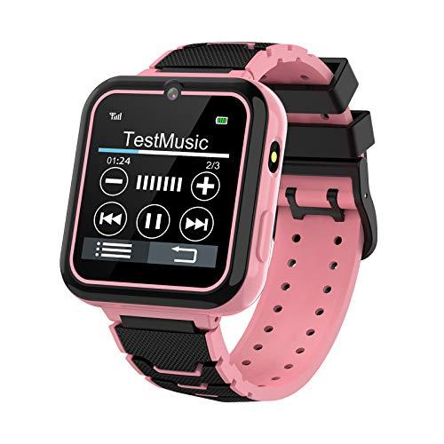 Juegos para Niños Smart Watch Phone, HD Smartwatch con Pantalla Táctil para Niños con Reproductor De Música Llamada Bidireccional SOS Linterna Calculadora Grabadora Reloj Despertador