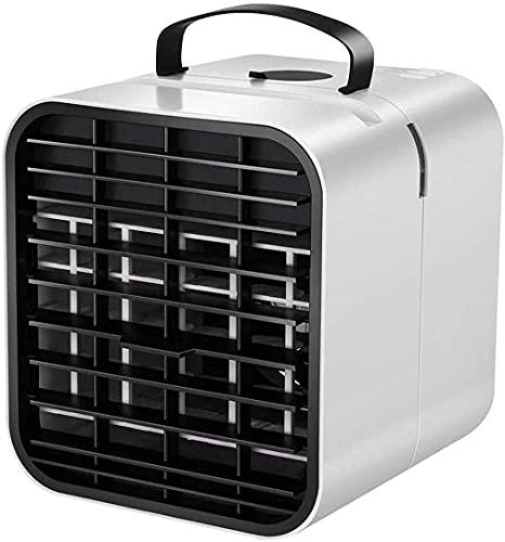 Aire acondicionado portatil Ventilador de aire acondicionado portátil, refrigerador de aire evaporativo de espacio personal, ventilador de escritorio USB, para el hogar, oficina, dormitorio Aire acond