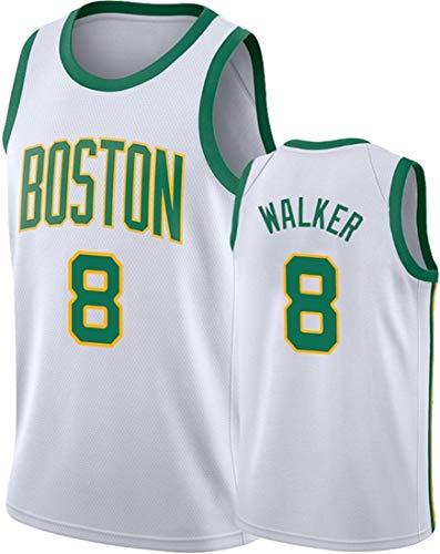 GIHI Camiseta De La NBA para Hombre - Boston Celtics NBA 8# Camisetas De Kemba Walker - Ropa De Entrenamiento De Baloncesto De Malla Bordada Retro,A,XL(180~185CM/85~95KG)