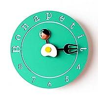 壁時計のデザインクリエイティブブリーフ壁時計シンプルでモダンなデザイン装飾的なキッチン時計スタイルかわいい壁時計アート家の装飾サイレントリビングルームの寝室に適しています