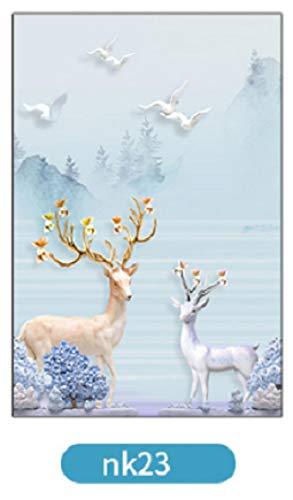 KUNHAN raamsticker Op maat raamfolie Elektrische Natuur PVC Huisdecoratie Verwijderbare Warmtecontrole Privacy Bescherming Tint Film 40 cm x 80 cm