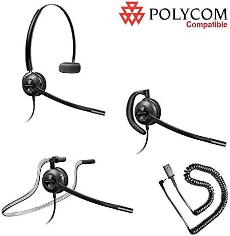 new arrival Polycom Compatible Plantronics VoIP Noise Canceling EncorePRO lowest 530 HW530 Headset Bundle for Polycom IP 320 new arrival 321 330 331 Phones sale