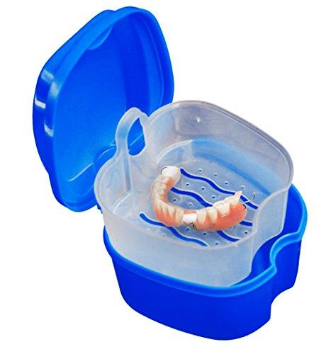 Mundschutz Case - Mundschutz Box für Ortho Halterungen, Sporte Zahnärztliche Geräte, Zahnersatz & Mehr (Tiefes Blau)