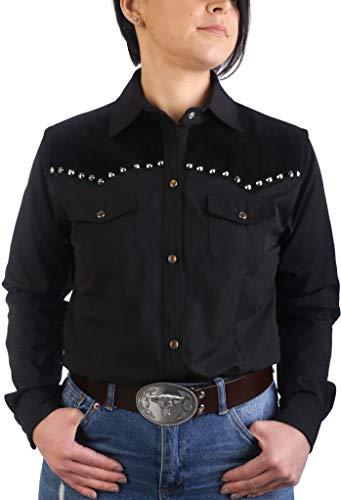 Last Rebels Country - Camisa para mujer, color negro Negro XL
