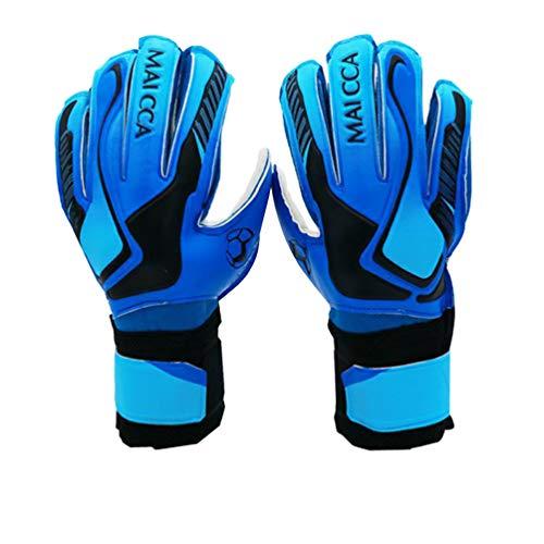 Torwarthandschuhe, Jugendliche Erwach Herren Damen Jungen Fußball Fingerschutz für Finger Rutschfes Gewährung 8 Junior Fußballhandschuhe Blau