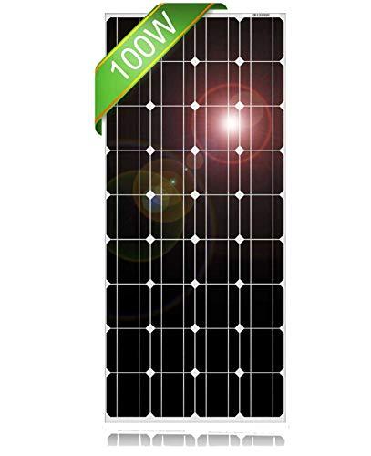 DOKIO 100 Watt 12 Volt Monocrystalline Solar Panel High Efficiency Module Durable RV Marine Boat Off Grid