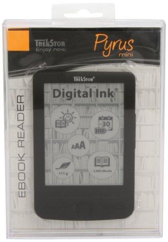 TrekStor Pyrus Mini 10,9 cm (4,3 Zoll) eBook Reader (2GB interne Speicher, 600 x 800 Pixel, microSDHC-Kartenleser, USB 2.0) schwarz