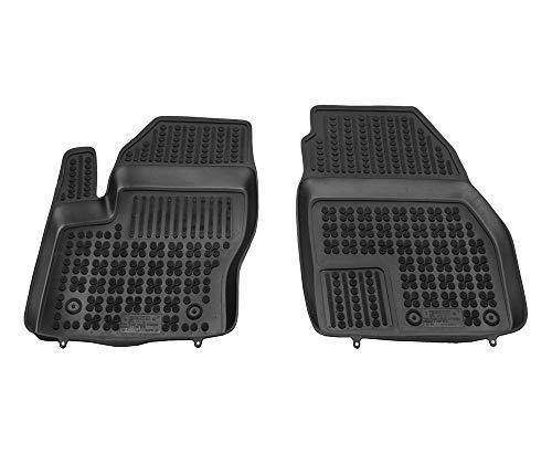 Rezaw Tapis de Sol en Caoutchouc Compatible avec Ford Transit Connect II - Avant (à partir de 2013) + nettoyant Plastique (Cadeau)