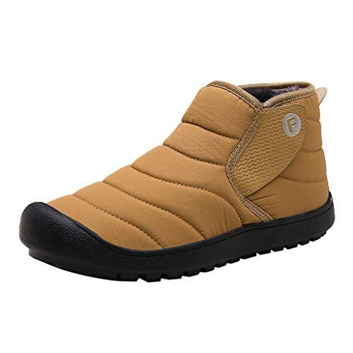 DreamedU Zapatos De Nieve De Adultos Vejez Deporte De Peluche Botas De Algodón Botines Forrado CáLidas Plano Al Aire Libre Caliente Impermeable Resbaladizo Peso Ligero 201019