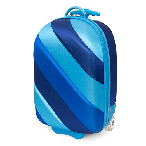 Kids Travel 2 Rainbow Suitcase Children's Luggage, 39 cm, 15.0 litres, Cabin Bag - Multicolour (Blue Bubble)