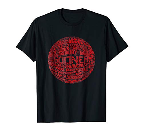 Arsenal - Red Typography Print t-shirt
