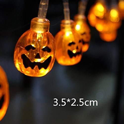 SONGSH Halloween Kürbis Lichter LED hängen DIY Halloween Dekoration Outdoor Kürbis LED Lichterketten Halloween Laterne Lichter for Familie Party Supplies Urlaub liefert (Emitting Color : 1)