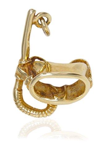 MyGold duikbril hanger (zonder ketting) geelgoud 585 goud (14 karaat) massief 25 mm x 15 mm duiksport sieraden voor duikers mannen gouden hanger herensieraad kerstcadeau diving V0006733
