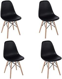 HOMEMAKE FURNITURE Juego de 4 sillas de comedor de estilo mo