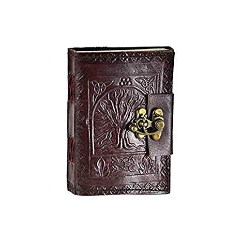Leather Celtic Tree of Life Book of Shadows Blank Spell Book Wicca