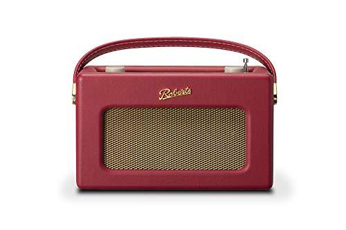 Roberts Radio REV-ISTREAM3BR Retro DAB DAB+ FM Wireless Portable Digital Bluetooth Radio Alexa Voice Controlled Smart Speaker Revival iStream 3 - Berry Red