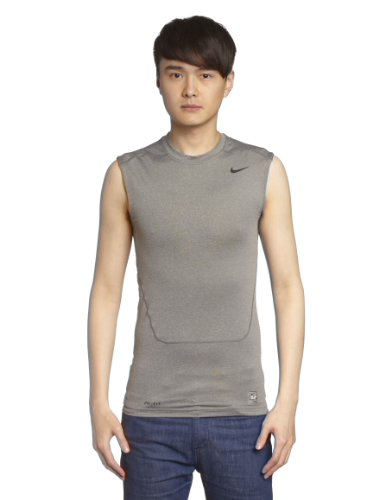 Nike Herren Kompressions Shirt Core Compression SL 2 Kompressionsshirt, Carbon Heather/Black, M