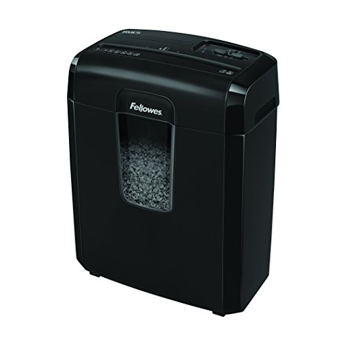 Buy Fellowes Powershred 8MC/8MC5 8-Sheet Micro-Cut Paper Shredder, Black