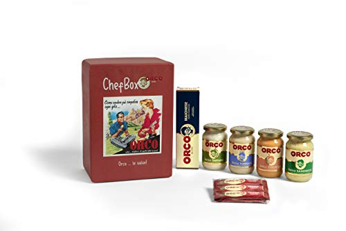 Orco Chef Box - Cofanetto Degustazione Salse: Tonnata, Cocktail, Tartara, Sandwich, Ketchup e Maionese - 2000 g