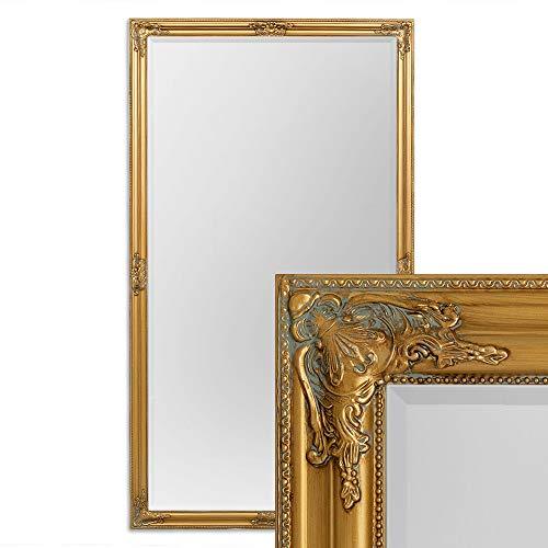 LEBENSwohnART Wandspiegel BESSA 180x100cm Antik-Gold Barock Design Spiegel Pompös Facette