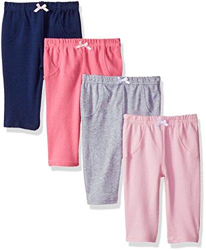 Luvable Friends - Pantalones,32209, Bebé, Unisex, Multicolor/fantasía (Girl Solids), 12-18 Meses
