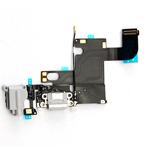 OcioDual Conector de Carga Flex Dock para iPhone 6 4.7' Mic Audio Jack Auriculares Gris
