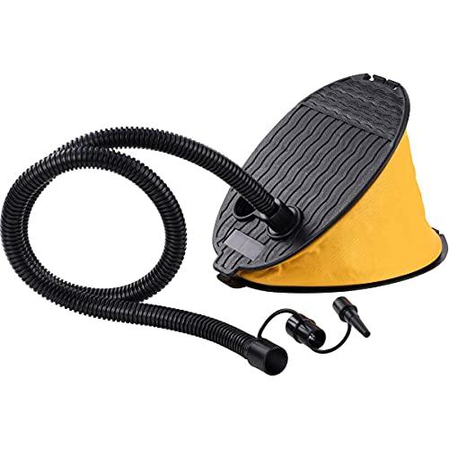 Blasebalg Fußpumpe 23x16x15,5cm - Luftpumpe mit 3 Aufsätzen - ideal für Luftmatratze, Planschbecken, Schlauchboote etc.