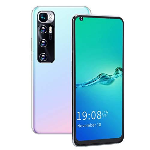 BOLORAMO Smartphone, M11 Pro 6.82in Pantalla Cámaras Duales Reconocimiento Facial Tarjeta Dual Doble Modo De Espera 2GB + 16GB / 128GB Extensión Teléfono Móvil para Android6.0(Blanco)