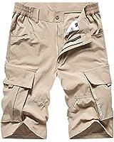 VtuAOL Men's Outdoor Soft Lightweight Quick Dry Casual Shorts Hiking Sports Shorts Khaki Tag 2XL/US 34