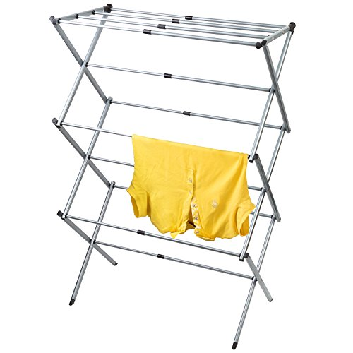 Artmoon Gobi Foldable Drying Laundry Rack Portable Clothes Horse Made of Rustproof Steel Extendable 173#039#039 295#039#039