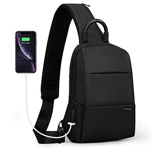 MARK RYDEN Sling Chest Bag antifurto per gli uomini Borsa a tracolla impermeabile per i viaggi Crossbody Fit per 9.7' ipad