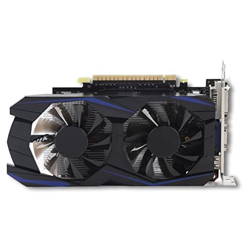 Garsentx Grafikkarte, 128bit 4GB DDR5 900MHz Automatische Erkennung Langlebige Grafikkarte, PCI Express 2.0, Grafikkarten für Desktop-Computer mit Zwei Lüftern